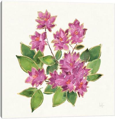 Tropical Fun Flowers IV Canvas Art Print
