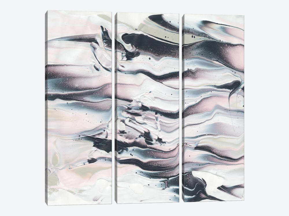 Marbling V Crop by Piper Rhue 3-piece Canvas Print