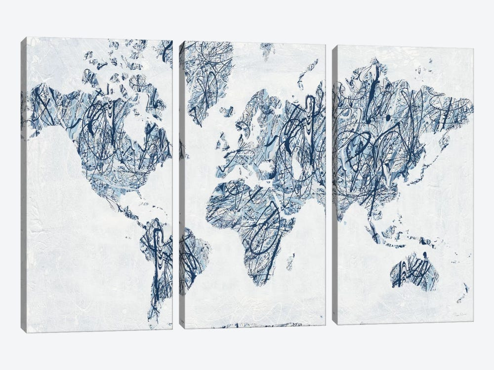 World On A String 3-piece Canvas Art Print