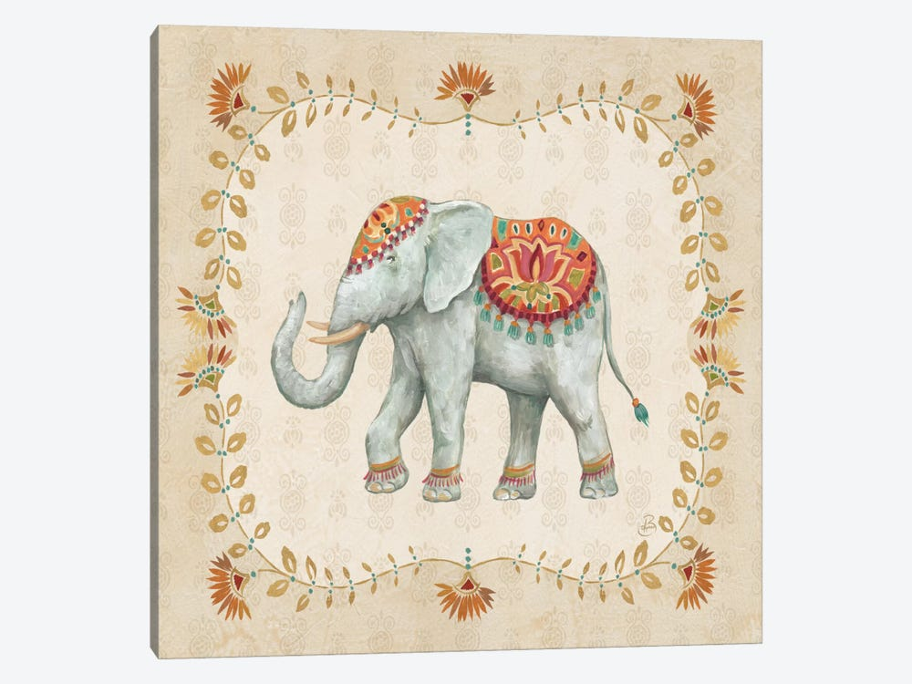 Elephant Walk V by Daphne Brissonnet 1-piece Canvas Print