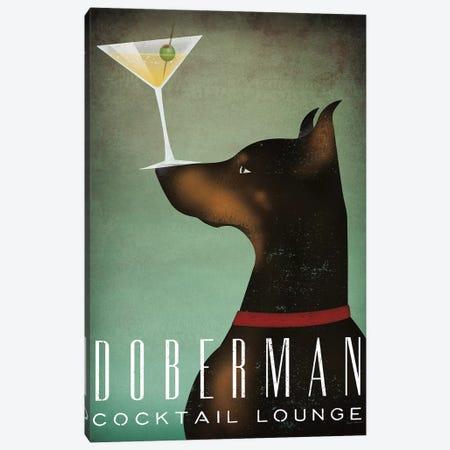 Doberman Cocktail Lounge Canvas Print #WAC6984} by Ryan Fowler Canvas Art