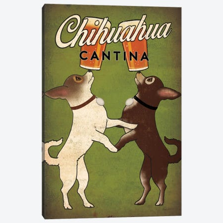 Chihuahua Cantina Canvas Print #WAC6985} by Ryan Fowler Canvas Art