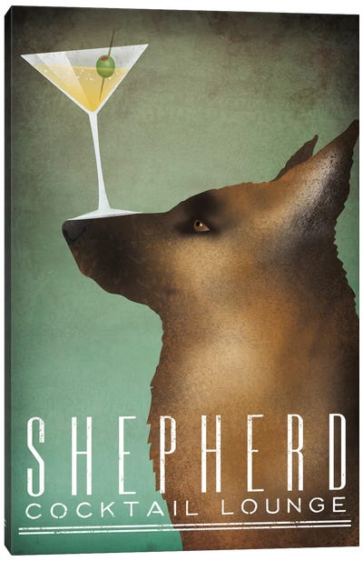 Shepherd Cocktail Lounge Canvas Art Print