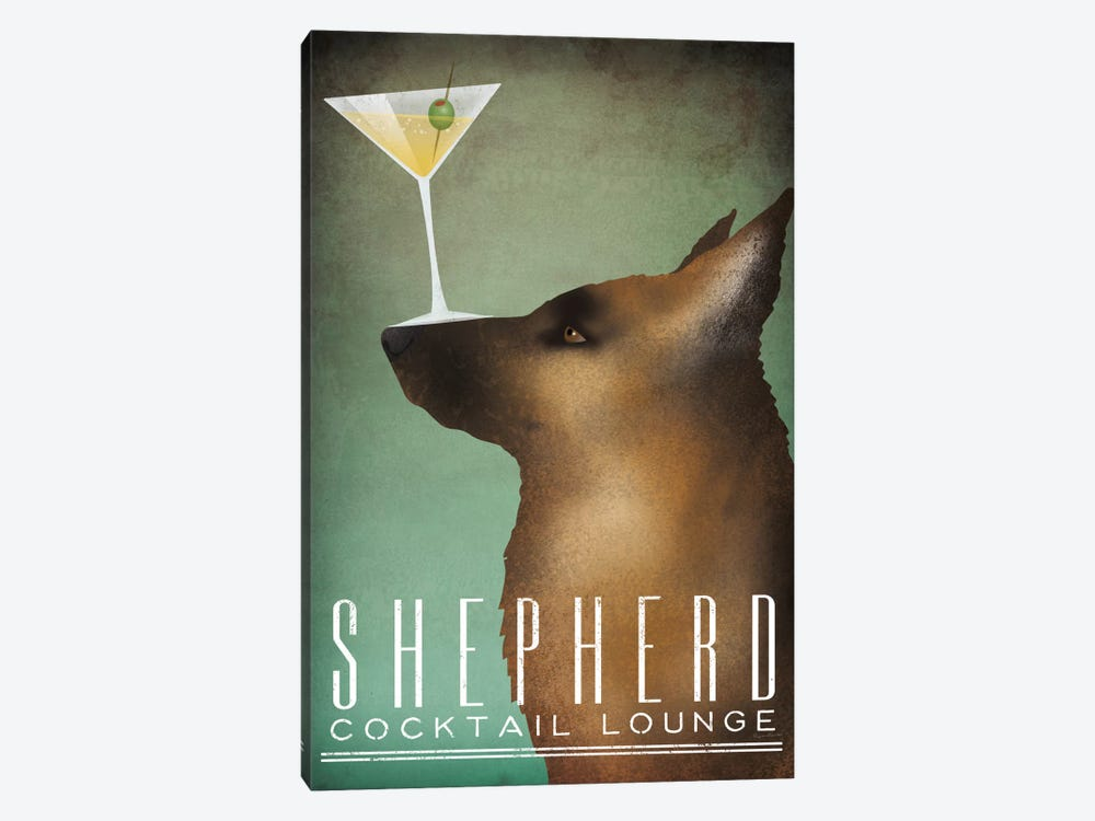 Shepherd Cocktail Lounge by Ryan Fowler 1-piece Canvas Print