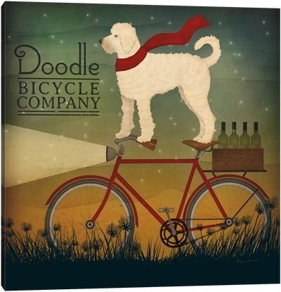 Doodle Bicycle Company Canvas Art Print