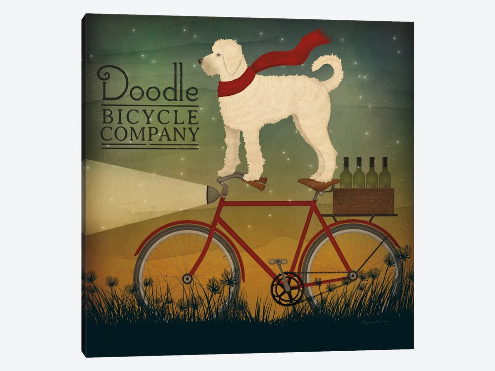 Doodle Bicycle Company by Ryan Fowler 1-piece Canvas Art Print