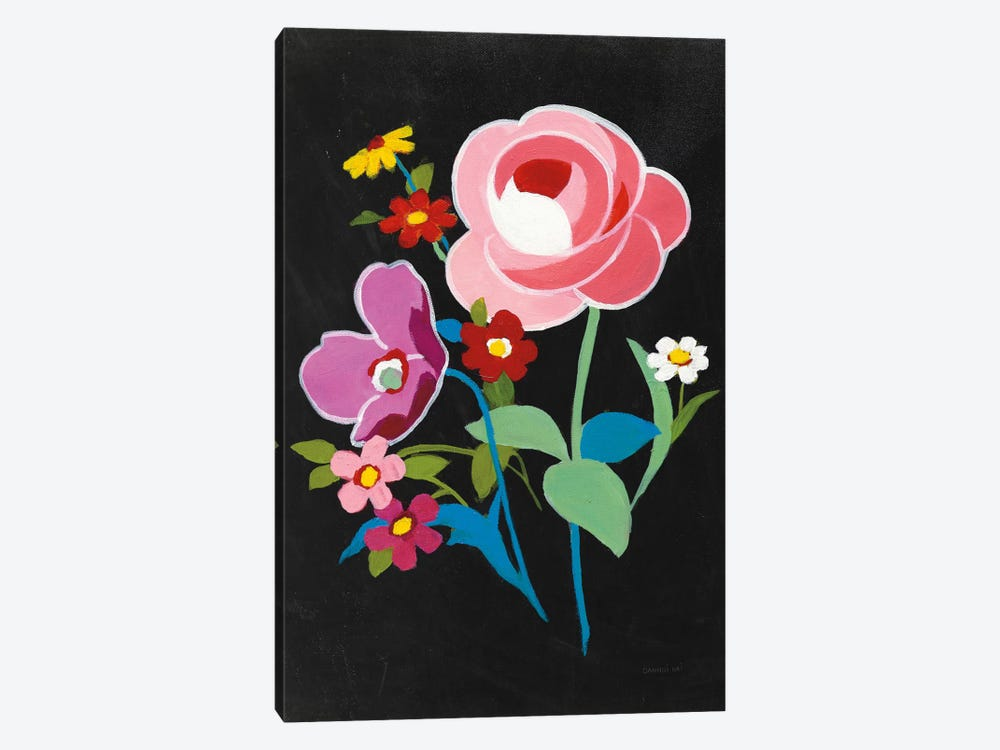 Alpine Bouquet I On Black by Danhui Nai 1-piece Canvas Print