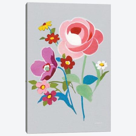 Alpine Bouquet I On Gray 3-Piece Canvas #WAC6995} by Danhui Nai Canvas Art Print