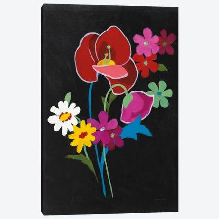 Alpine Bouquet II On Black Canvas Print #WAC6996} by Danhui Nai Art Print
