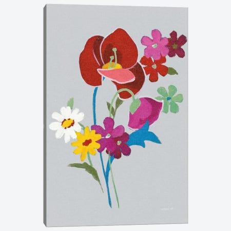 Alpine Bouquet II On Gray Canvas Print #WAC6997} by Danhui Nai Art Print