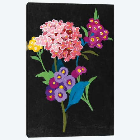 Alpine Bouquet III On Black Canvas Print #WAC6998} by Danhui Nai Canvas Artwork