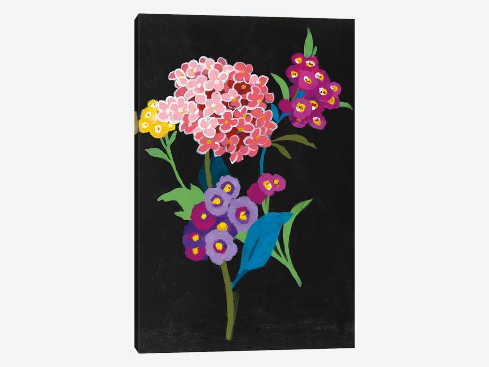 Alpine Bouquet III On Black by Danhui Nai 1-piece Art Print