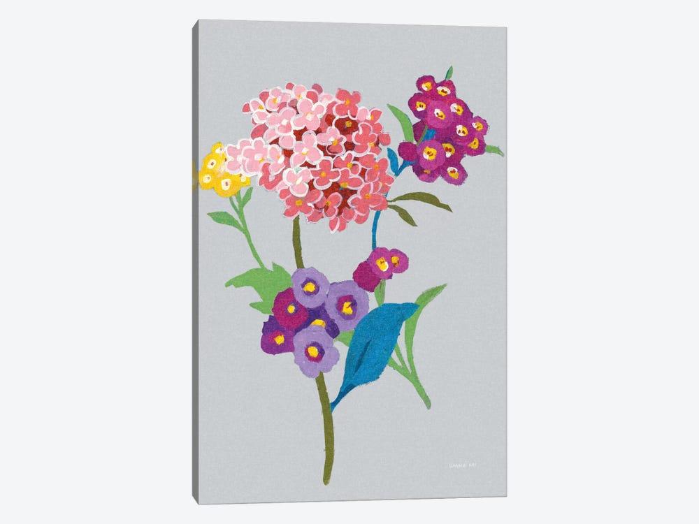 Alpine Bouquet III On Gray by Danhui Nai 1-piece Canvas Artwork
