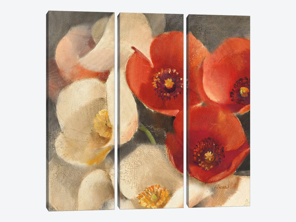 Poppies Bloom III 3-piece Canvas Print