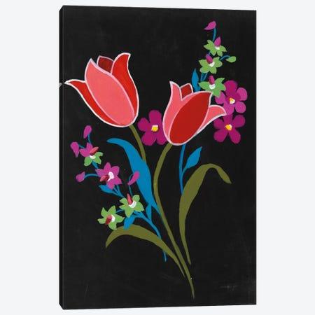 Alpine Bouquet IV On Black Canvas Print #WAC7000} by Danhui Nai Art Print