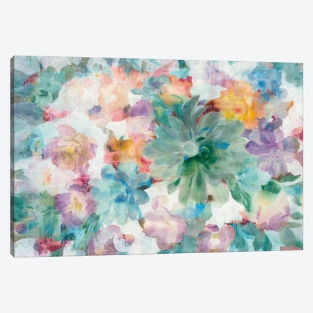 Succulent Florals Canvas Print #WAC7006} by Danhui Nai Canvas Wall Art