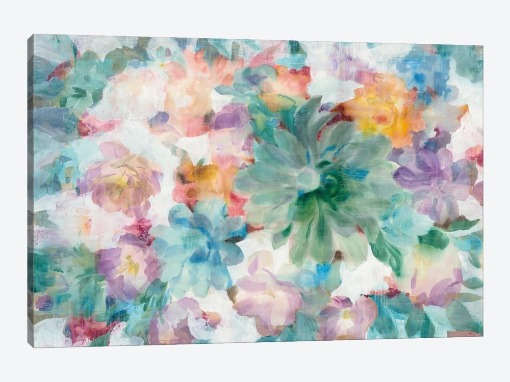 Succulent Florals by Danhui Nai 1-piece Canvas Artwork