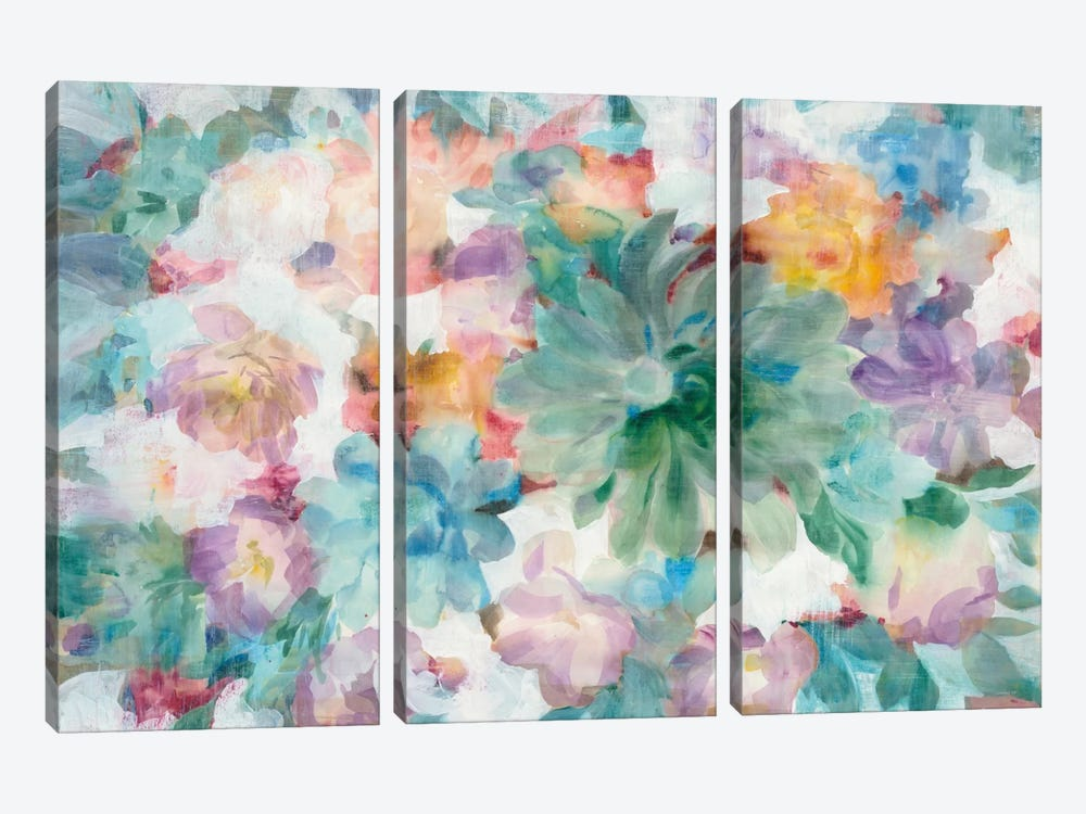 Succulent Florals by Danhui Nai 3-piece Canvas Art