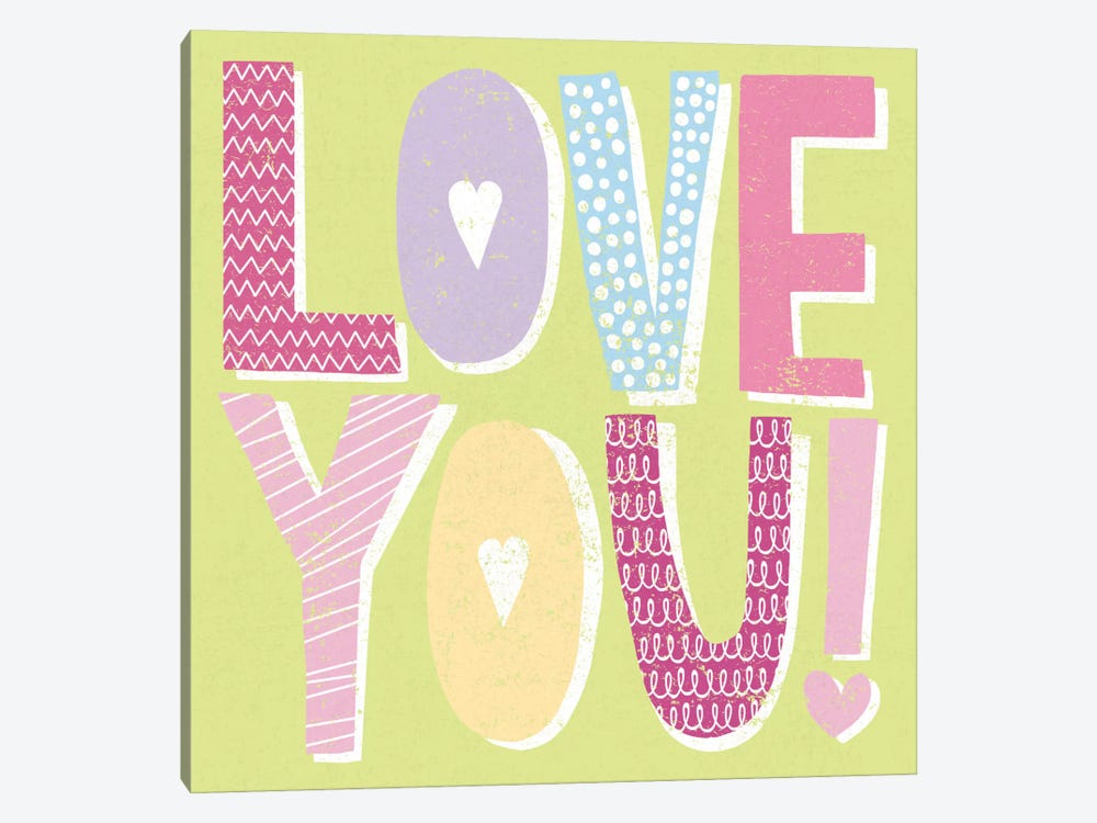 Words Of Love II by Moira Hershey 1-piece Art Print