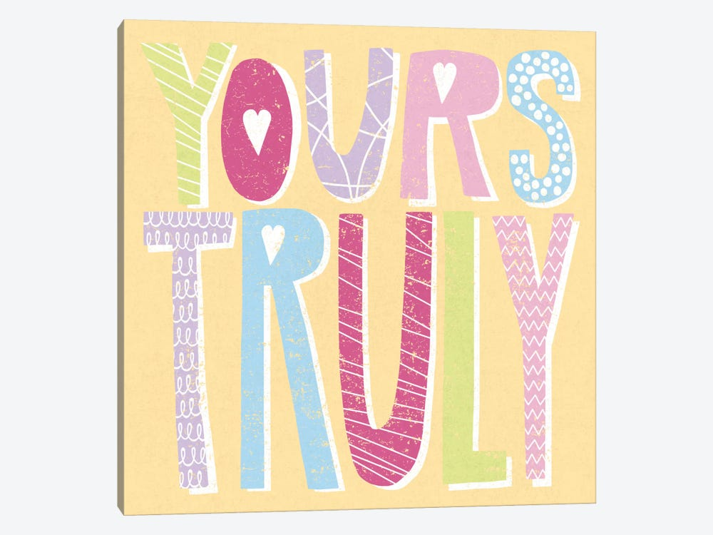 Words Of Love III by Moira Hershey 1-piece Canvas Wall Art
