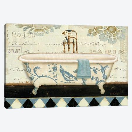 Marche de Fleurs Bath II Canvas Print #WAC701} by Lisa Audit Art Print