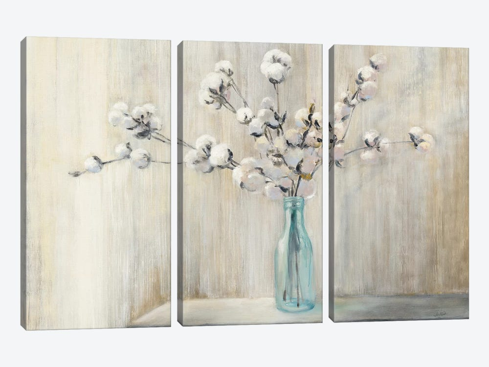 Cotton Bouquet by Julia Purinton 3-piece Canvas Art