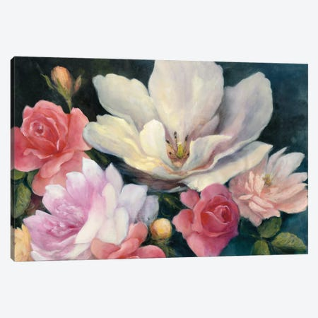 Flemish Fantasy Rose Canvas Print #WAC7047} by Julia Purinton Canvas Artwork