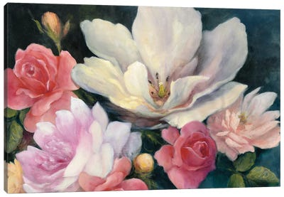 Flemish Fantasy Rose Canvas Art Print