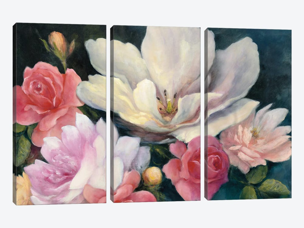 Flemish Fantasy Rose by Julia Purinton 3-piece Art Print
