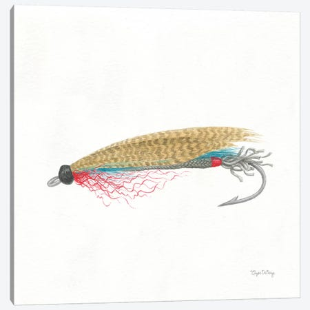 Gone Fishin III Canvas Print #WAC7054} by Elyse DeNeige Art Print