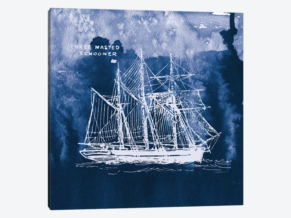 Sailing Ships II by Wild Apple Portfolio 1-piece Canvas Art Print