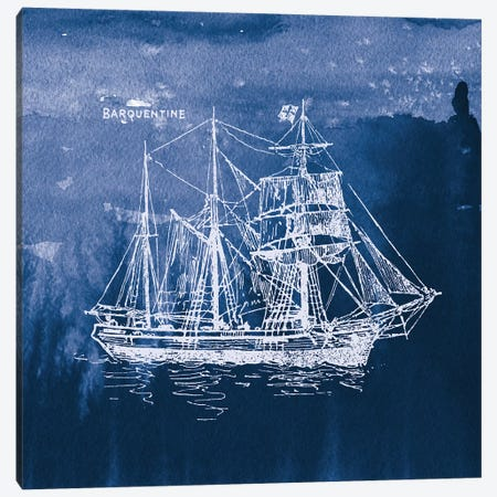 Sailing Ships III Canvas Print #WAC7071} by Wild Apple Portfolio Canvas Artwork