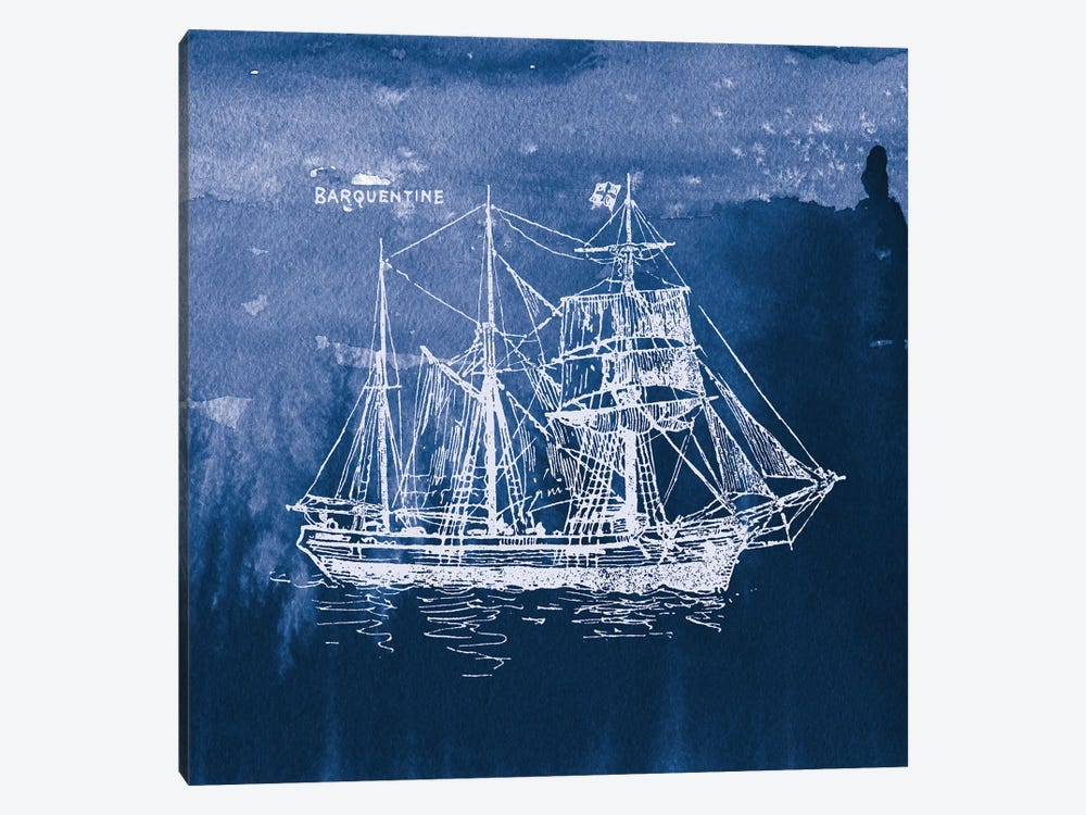 Sailing Ships III by Wild Apple Portfolio 1-piece Canvas Art