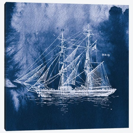 Sailing Ships IV Canvas Print #WAC7072} by Wild Apple Portfolio Canvas Wall Art