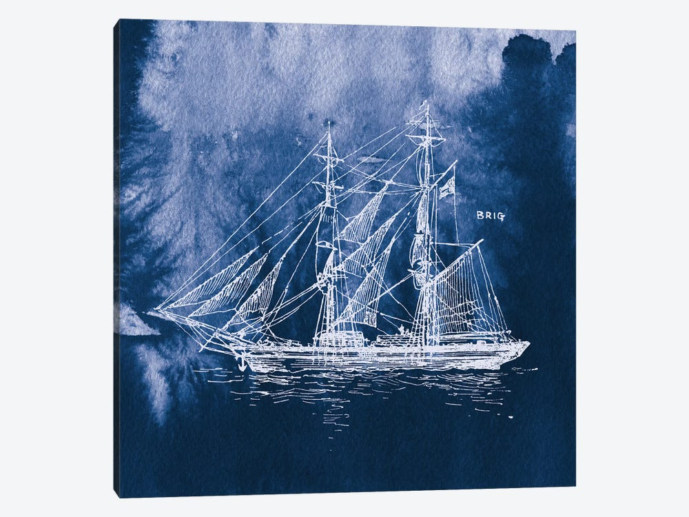 Sailing Ships IV by Wild Apple Portfolio 1-piece Canvas Art Print