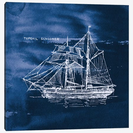 Sailing Ships V Canvas Print #WAC7073} by Wild Apple Portfolio Canvas Art
