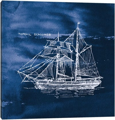Sailing Ships V Canvas Art Print