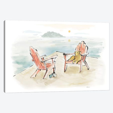 Lakeside Days I Canvas Print #WAC7084} by Sue Schlabach Canvas Artwork