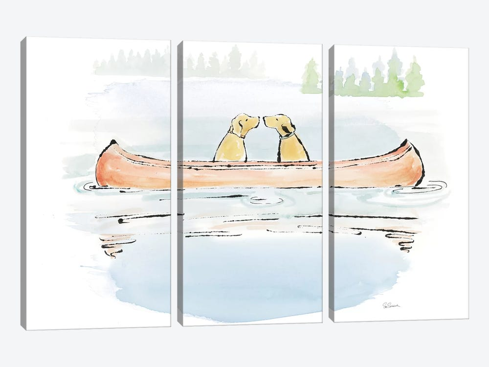 Lakeside Days IV by Sue Schlabach 3-piece Canvas Art Print