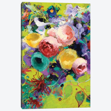 Des Roses 3-Piece Canvas #WAC7089} by Shirley Novak Canvas Art Print