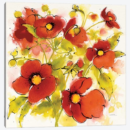 Wild Meadow I Canvas Print #WAC7091} by Shirley Novak Canvas Artwork
