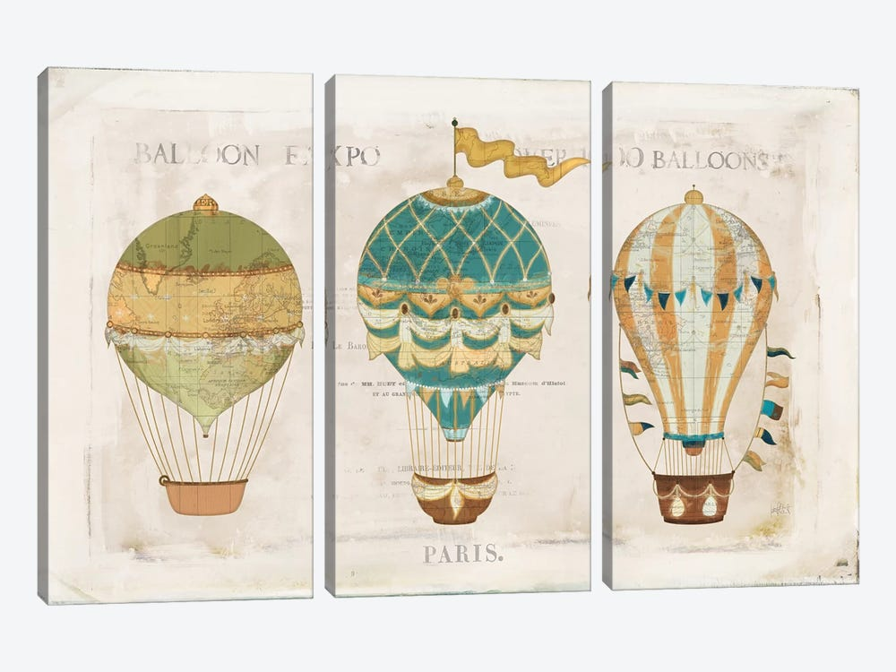 Balloon Expo I by Katie Pertiet 3-piece Canvas Art Print