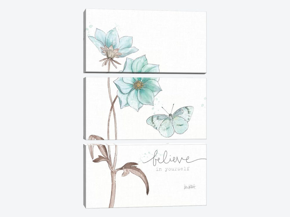 Bits Of Blue II by Katie Pertiet 3-piece Canvas Art Print