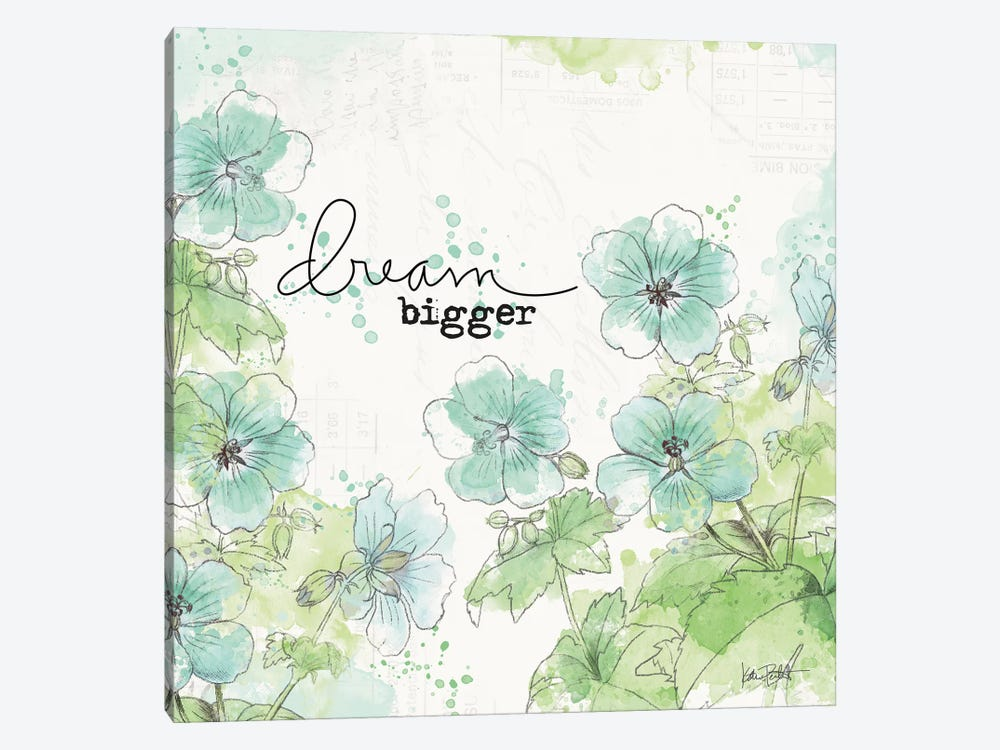 Dream And Faith I by Katie Pertiet 1-piece Canvas Art Print