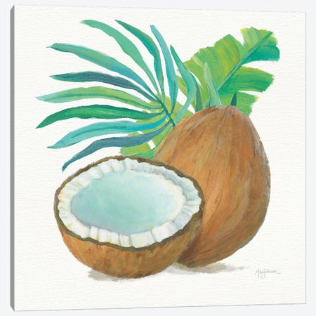 Coconut Palm III Canvas Print #WAC7107} by Mary Urban Art Print