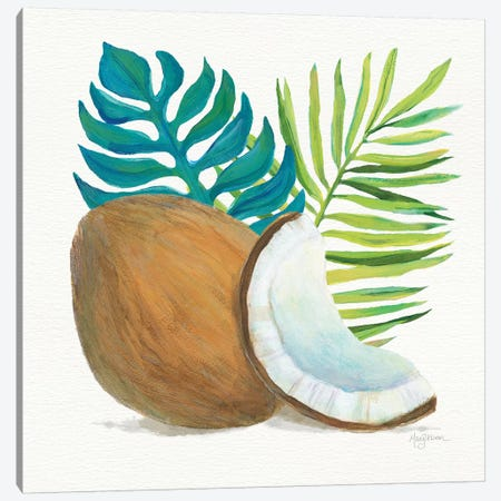Coconut Palm IV Canvas Print #WAC7108} by Mary Urban Canvas Wall Art