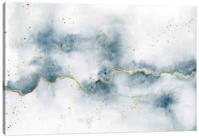 Golden Flow Canvas Art Print