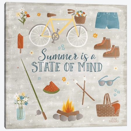 Summer Sunshine I Canvas Print #WAC7127} by Laura Marshall Canvas Art Print