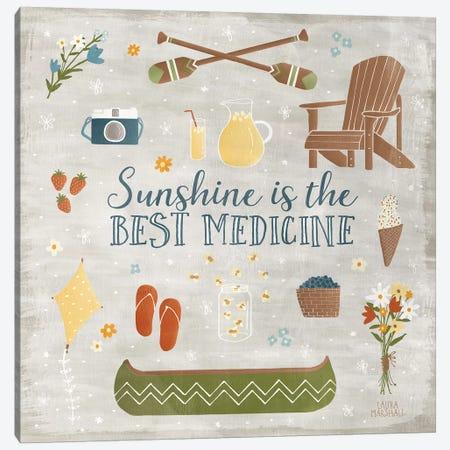 Summer Sunshine II 3-Piece Canvas #WAC7128} by Laura Marshall Canvas Wall Art