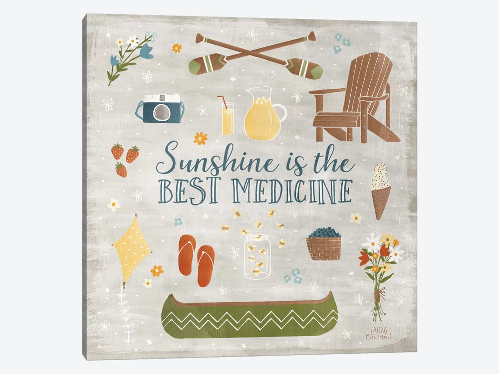 Summer Sunshine II by Laura Marshall 1-piece Canvas Print